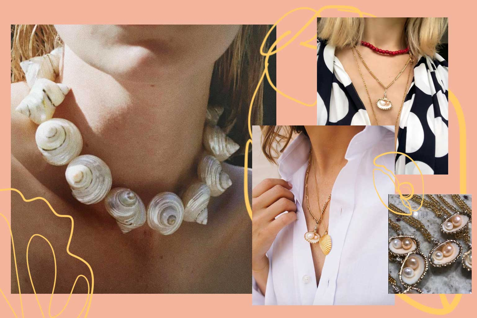 shell necklaces bracelets jewelry