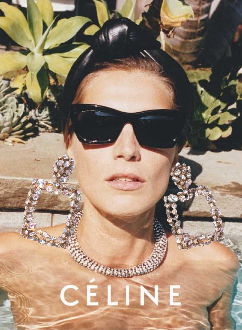 cheap statement crystal earrings