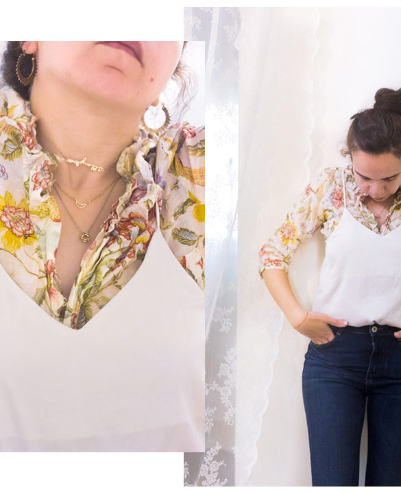 How to Style a floral ruffled shirt