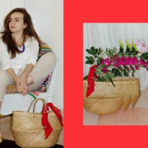 cheap straw basket bag