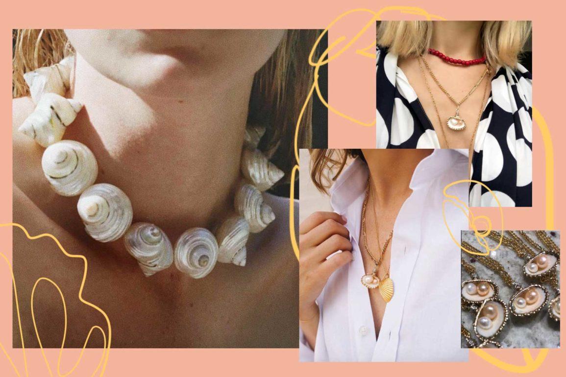 shell necklaces bracelets jewelry