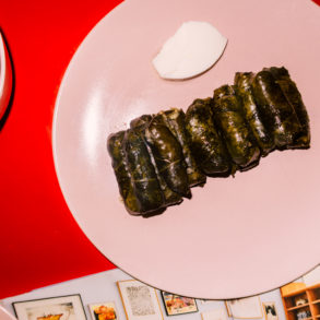 Lamb and Rice Stuffed Grape Leaves recipe