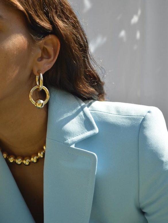 linked hoops earrings