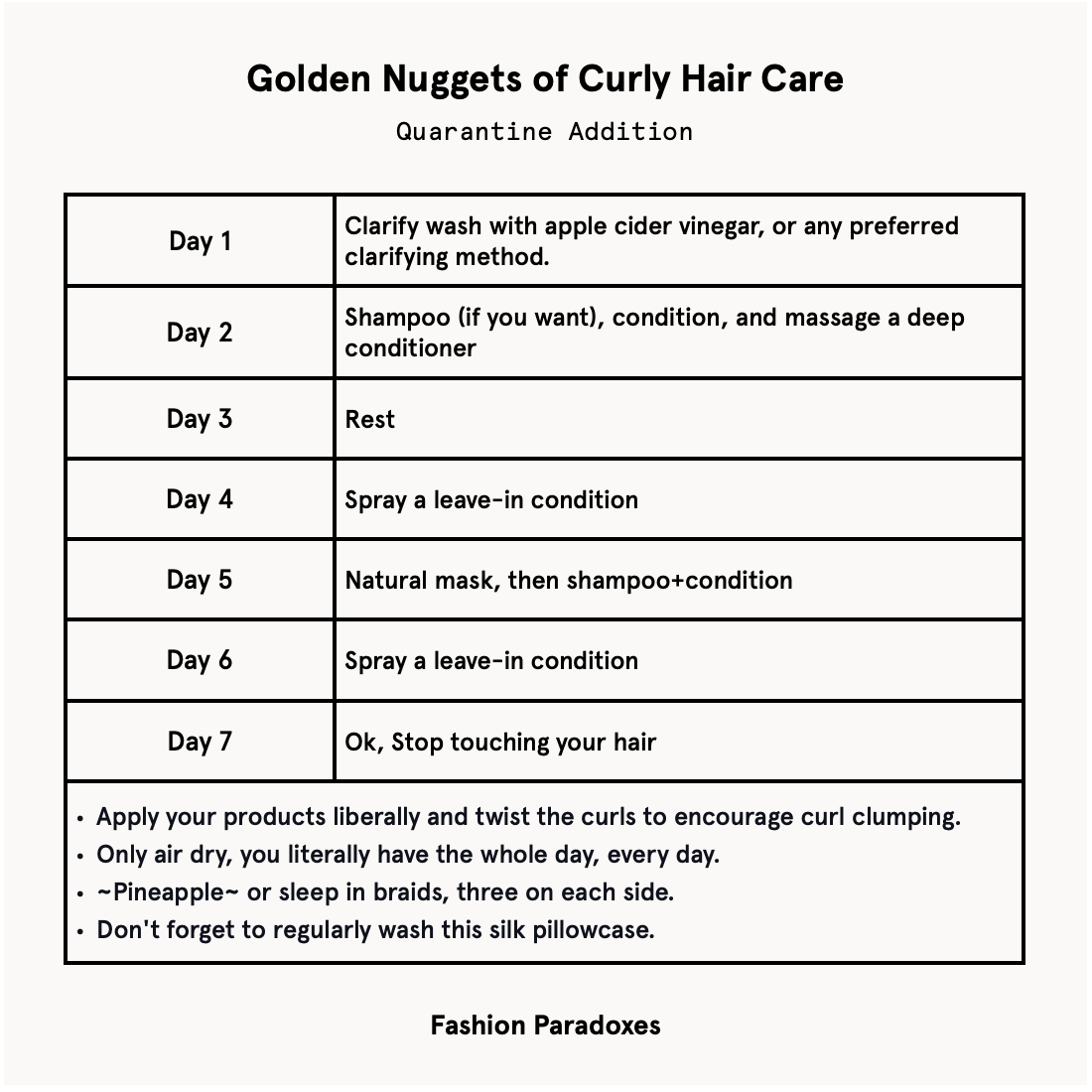 The Quarantine Specific Routine For Curly Hair Fashion Paradoxes